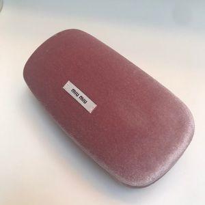 Miu Miu Pink Velvet Hard Sunglasses Case